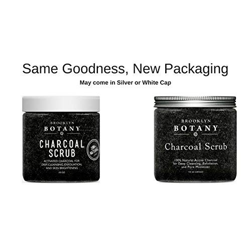 Premium Activated Charcoal Scrub 10 oz - For Deep Cleansing & Exfoliation - Pore Minimizer & Reduces Wrinkles, Acne Scars, Blackhead Remover & Anti Cellulite Treatment - Body Scrub & Facial Cleanser by Brooklyn Botany (Image #7)