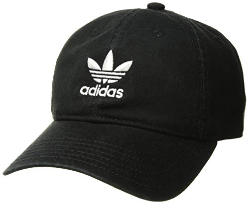 adidas Boys / Youth Originals Relaxed Adjustable Strapback Cap, Black/White, One Size ()