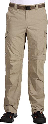 Columbia Men's Silver Ridge Convertible Pant, Tusk, 30 X 36