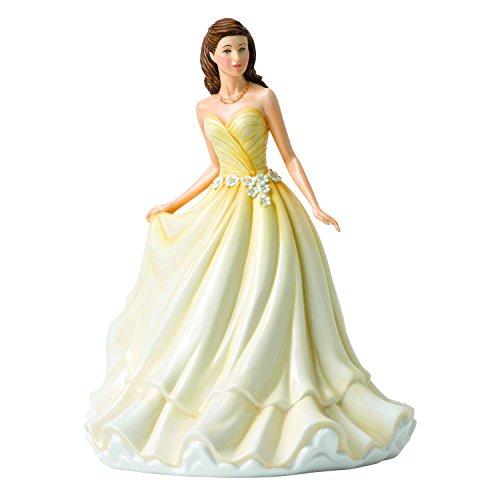 "Royal Doulton Language of Flowers 9.2"" Treasured Love Daisy Figurine, Yellow"