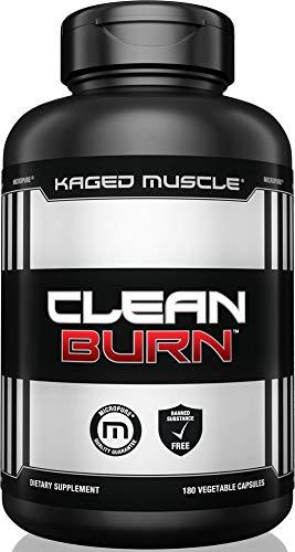 Kaged Muscle, Clean Burn Stimulant-Free Weight Loss Supplement for Men & Women, 180 Veggie Diet Pills ()