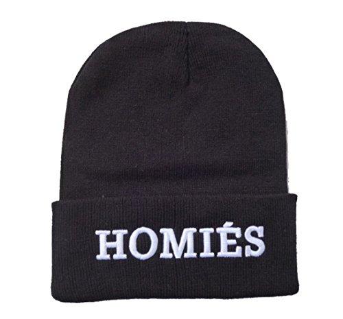 E-SHINE CO nuevo negro Homies bordar gorro gorra de calavera Hip Hop sombrero