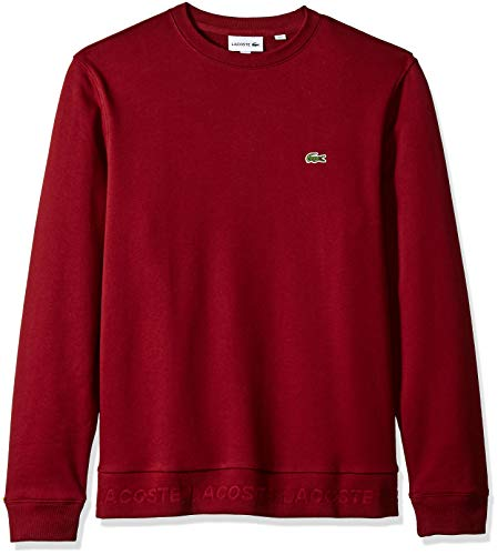 Lacoste Men's Long Sleeve Sweatshirt Print, French Terry, Pinot, XXX-Large ()