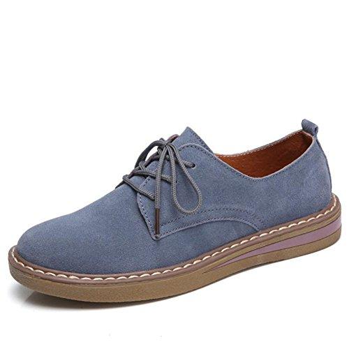 Fall Casuales de Viento Zapatos British Universidad Zapatos Spring la Encaje Planos Zapatos Redondos Mujer New Azul de de LUN CAI Zapatos de Casuales pequeños Mujer 2018 Style Zapatos de Yq5n7wA