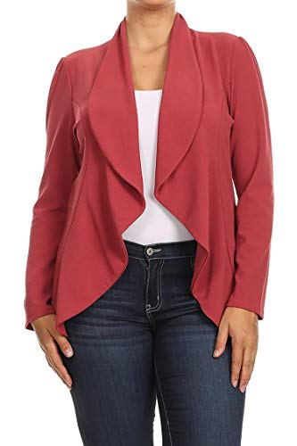 Fashion Stream Womens Plus Size Solid Short Sleeves Open Front Cardigan. Made in USA (2X, White)