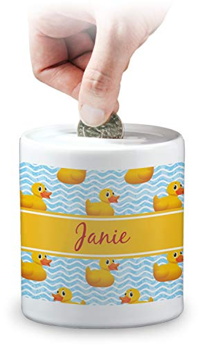 YouCustomizeIt Rubber Duckie Coin Bank (Personalized) ()