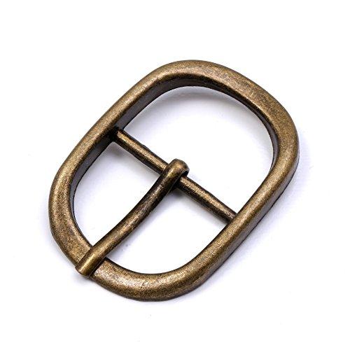 (GENCASE 1 Inch Metal Oval Buckle 10Pcs Sliding Belt Adjuster Webbing Strap Roller Buckle (Antique Gold))