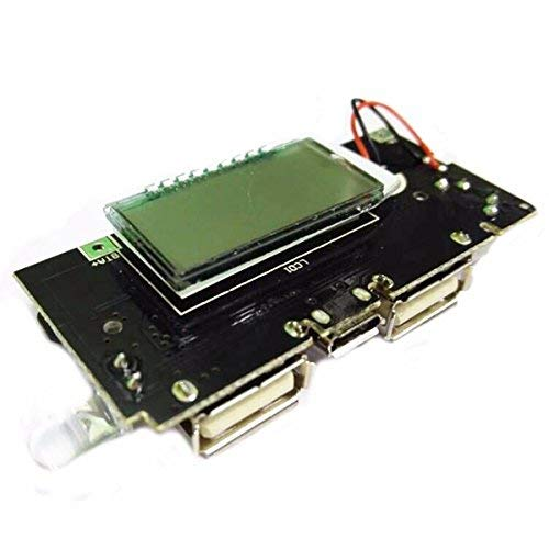 Cargador de bater/ía Dual USB 5 V 1 A 2.1 A DSstyles Cargador de bater/ía 18650 para Placa de m/ódulo PCB