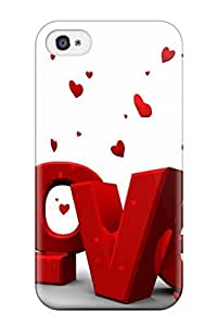 Barbauller Fashion Protective Love Hd Case Cover For Iphone 4/4s