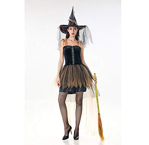 Donna Halloweenhalloween Femmina Costume Schwarz Di Olydmsky Strega Adulto Da Gonna Costumi AEw74TIq