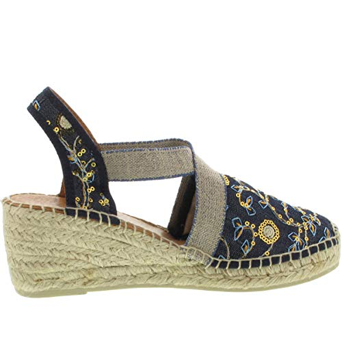 Jeans or Toni Floral Keilsandalette Terra Farbe Pons zZxxXqRt
