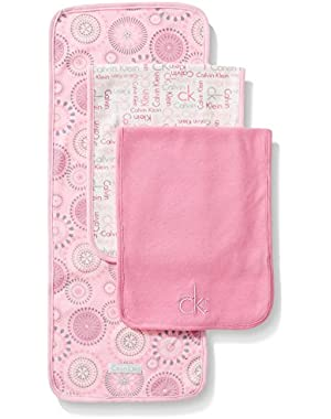 Baby Girls' Burp Cloths (Pack of 3)