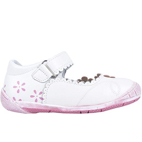 Ballerinas für Mädchen Sommer schuhe komfortables Fußbett (11194) Weiß