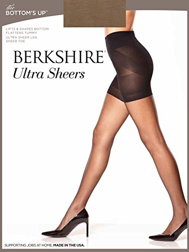 Sheer Pantyhose Berkshire (Berkshire Women's Butt Booster with Ultra Sheer Leg and Sheer Toe, City Beige, 2 Plus)