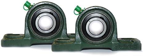 UCP203 Lagerbock - 2 Stück – UCP 203 Stehlager 17 mm Welle Gehäuselager 2 Loch Stehlager Wellendurchmesser 1,7 cm SY-17TF / P56203 / RASEY17