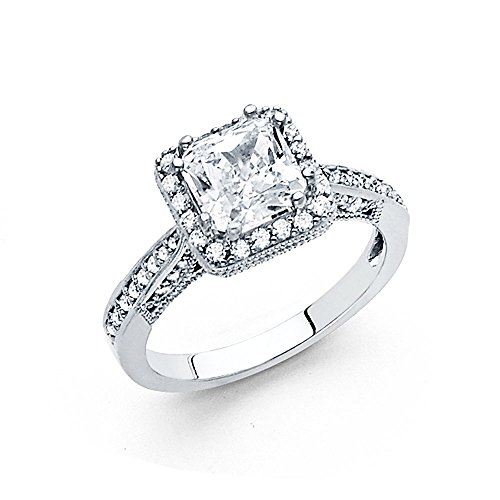 Ioka Jewelry - 14K White Solid