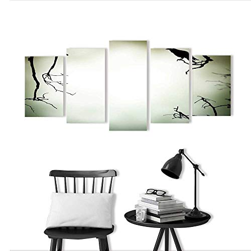 5 Pieces Multiple Pictures Wall Art Frameless Horror Perfect Wall Decoration