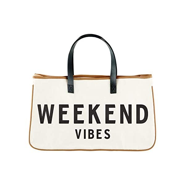 """Creative Brands D3712 Hold Everything Tote Bag, 20"""" x 11"""", Weekend Vibes"""