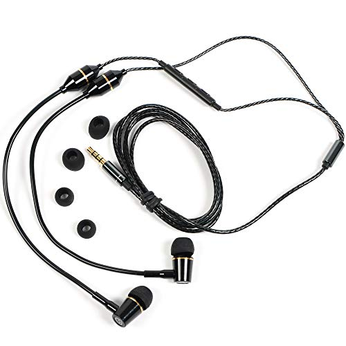 SYB Air Tube Stereo Headset (Black, in-Ear)