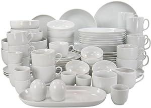 Creatable 10467 Atelier Dinner Ware Set, White, 59 X 42 X 35.5 Cm, 80 Piece