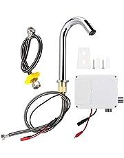 G1 / 2in Draad Automatische Inductie Sensor Kraan Touchless Aanrecht Kraan Infrarood Enkele Koude Tap met Schakelkast voor Badkamer Wc(M)