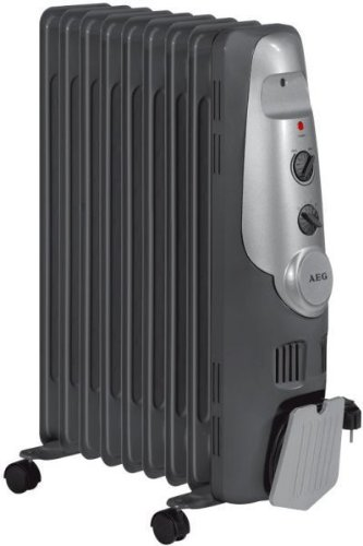 AEG 9 Fin Oil Radiator, 2000 Watt