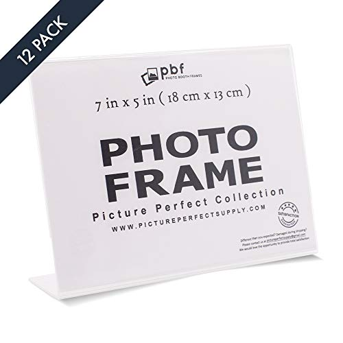 Photo Booth Frames - 7x5 Photo Frame Clear Acrylic Picture Frame Horizontal Sign Holder 7 x 5 (12 Pack) (Frame Picture Clear 5x7)