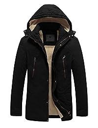 WenVen Men's Winter Thicken Fleece Lined Jacket