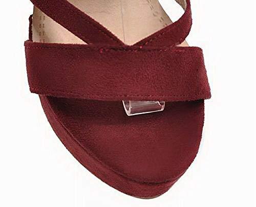 Puro GMMLB010455 Tacco Rosso Alto Allacciare Donna Sandali Plastica AgooLar 7gIqwaxZS