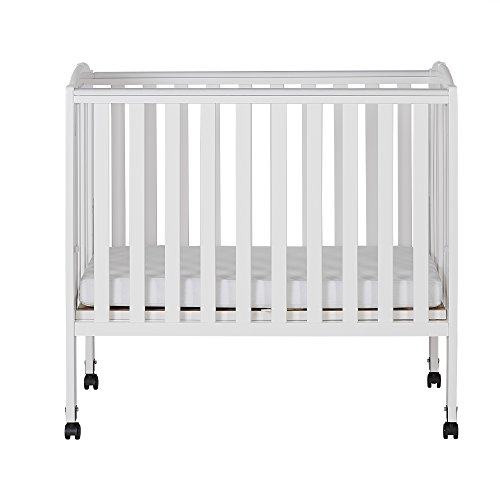 Dream On Me Folding Crib (Dream On Me 2 in 1 Portable Folding Stationary Side Crib, White)