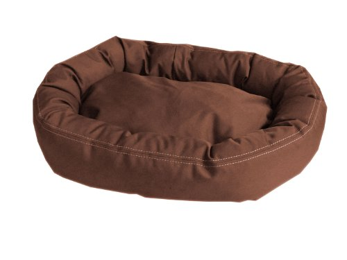 Carolina Bolster Pet Bed - CPC Brutus Tuff Comfy Cup Pet Bed, 36-Inch, Chocolate