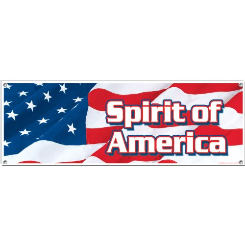 Spirit Of America Sign Banner Party Accessory (1 count) (1/Pkg)