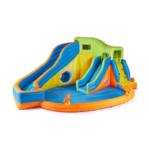 BANZAI Pipeline Twist Kids Inflatable Outdoor Water Pool Aqua Park and - Kids Twist