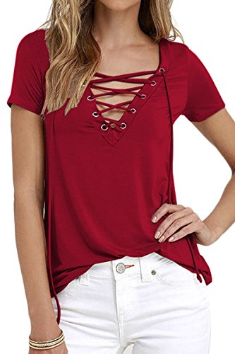 yming-womens-fashion-cross-front-tops-deep-v-neck-wine-red-casual-t-shirts-2xl