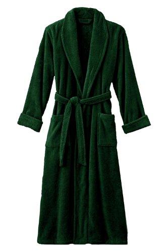 Mens Hunter Green Luxury Terry Velour Bathrobe 48