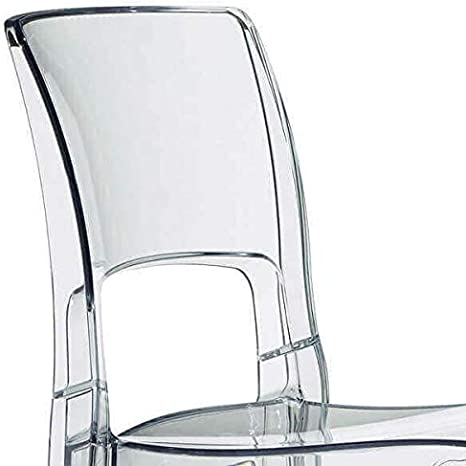Easy Chaise de Bar Confortable au Design Sobre Transparent
