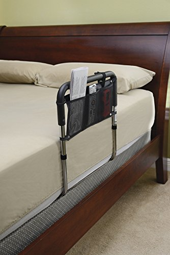 Essential Medical Supply Height Adjustable Hand Bed Rail with Three Pocket Pouch by Essential Medical Supply (Image #2)
