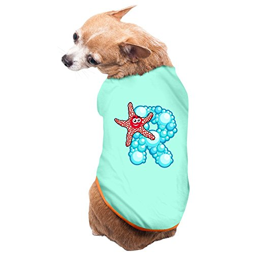 KyDoc Pet Shirts Ocean Muppet Alphabet Starfish R Polo Dogs Cute Vest Tops Size M Color SkyBlue