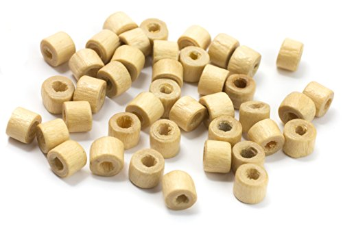 Cousin Rondelle Wood Beads, 3 by 5mm, Natural, 300-Pack