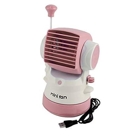 DealMux mini ventilador portátil USB con alimentación de rociado de agua de refrigeración del ventilador de