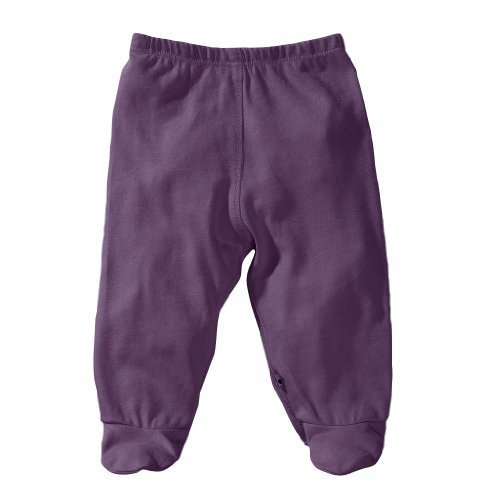 Babysoy Modern Abcs Footie Pants, Wineberry, 0-3 Months