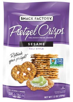 Snack Factory Deli Style Crunchy Pretzel Cracker Crisps, 8 Flavor Variety Pack, 7.2 Ounce Bags (Pack of 16) by Snack Factory (Image #5)