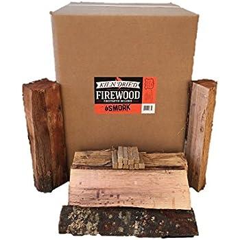 Smoak Firewood - Kiln Dried Premium Oak Firewood (Includes Firestarter) (Large (16inch Logs) 120-140lbs)