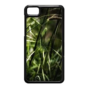 Black Berry Z10 Case,Green Grass High Definition Wonderful Design Cover With Hign Quality Hard Plastic Protection Case
