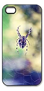 Spider Scary HD image case for iphone 4/4S black + Card Sticker