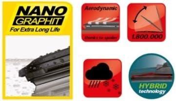X5 2013-2018 Heyner German Hybrid Windscreen Wiper Blades Front 2420 HH2420H