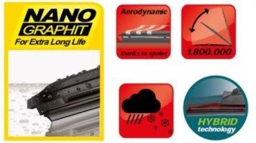 POLO CROSS 2006-2009 Heyner German Hybrid Windscreen Wiper Blades Front 2119 2119TL