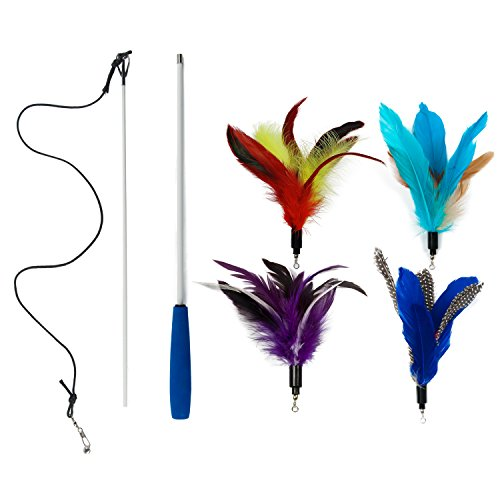 EcoCity Cat Toys - Feather Cat Teaser Toys 3