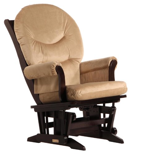 Dutailier Sleigh Glider, Light Brown Microfiber