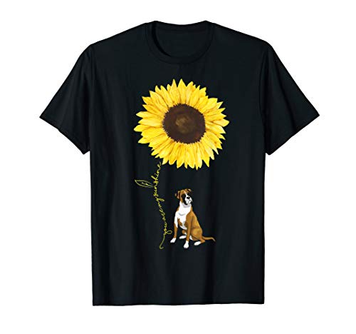 - Boxer Dog Hippe Sunflower funny Pet lover Tshirt